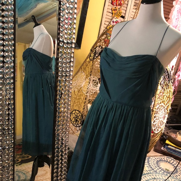 Saks Fifth Avenue Dresses | Jade Silk Cocktail Dress | Poshmark